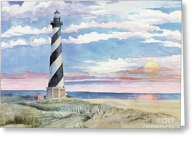 Blue Sailboat Greeting Cards - Silent Sentinel at Sunset Greeting Card by Paul Brent