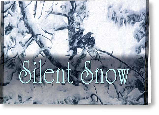 Silent Snow Greeting Card by Becky Titus