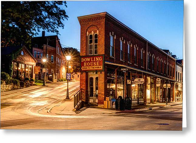 Silent Streets Of Galena Greeting Card by Matt Hammerstein
