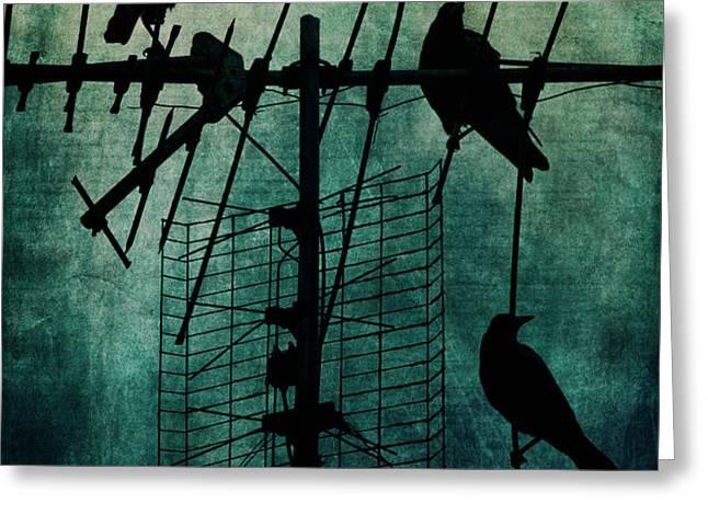 Silent Threats Greeting Card by Andrew Paranavitana
