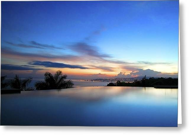 Jamaican Sunset Greeting Cards - Silent Water Greeting Card by Nicole Daniah Sidonie