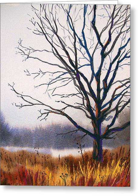 Winter Pastels Greeting Cards - Silent Yet Strong Greeting Card by Christine Camp