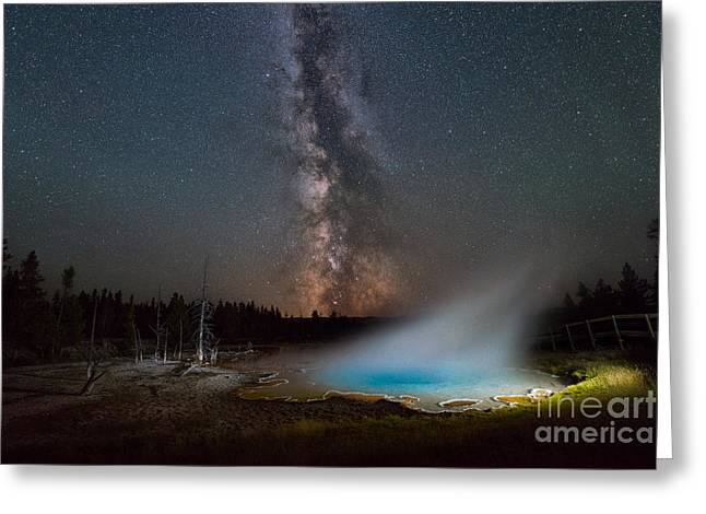 Silex Spring Milky Way  Greeting Card by Michael Ver Sprill