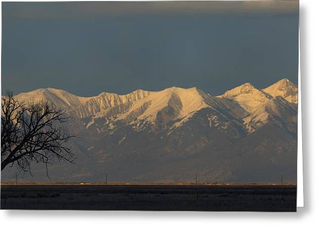 Silhouettes Greeting Cards - Silhouette in the San Luis Valley Greeting Card by Noah Bryant