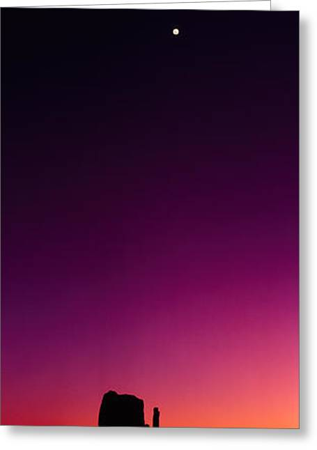 The Natural World Greeting Cards - Silhouette Of Rock Formations, The Greeting Card by Panoramic Images