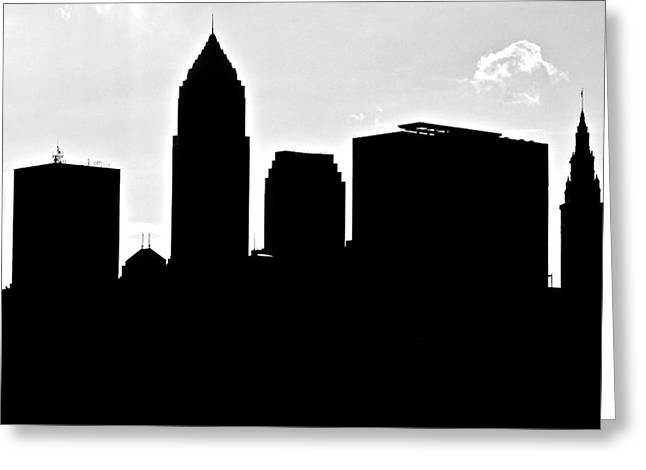 Silhouette Of The Big City Greeting Card by Frozen in Time Fine Art Photography
