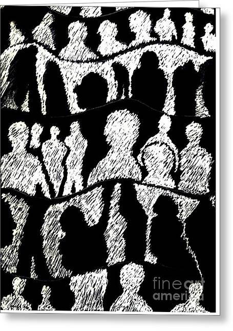 Silhouettes 2 Greeting Card by Helena Tiainen