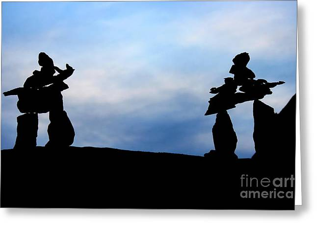Silhouette Sculptures Greeting Cards - Silhouettes  Greeting Card by Bradley Bates
