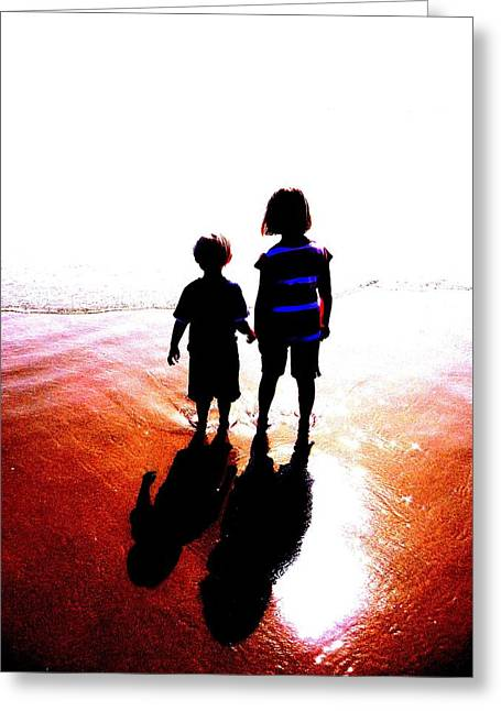 Silhouettes Greeting Card by Tim Tanis