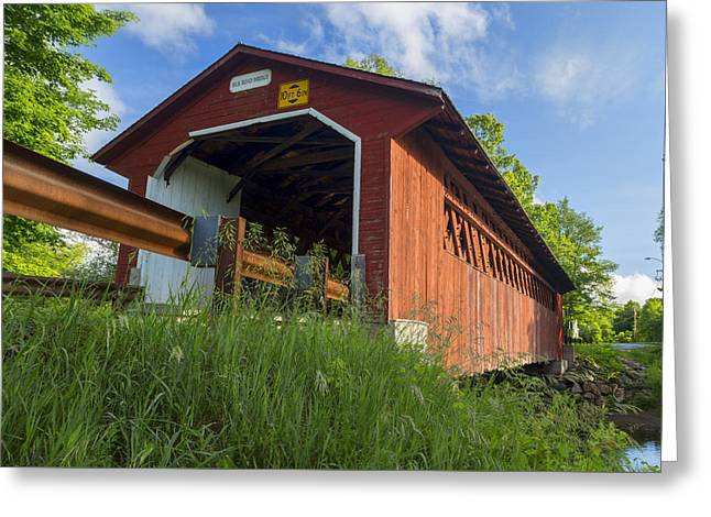 Covered Bridge Greeting Cards - Silk Covered Bridge Greeting Card by Stephen Stookey