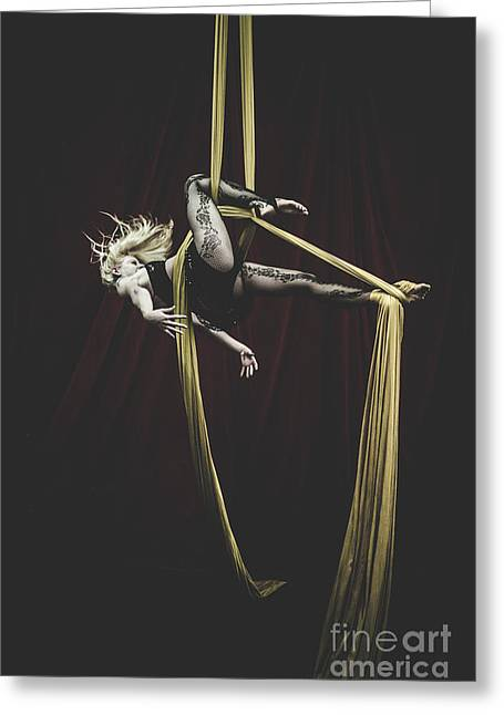 Arial Greeting Cards - Silk Intensity Greeting Card by Scott Sawyer