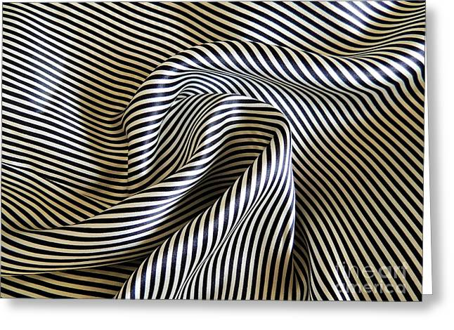Textile Photographs Greeting Cards - Silk Swirl Greeting Card by Alexandra Lavizzari