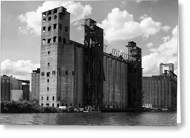 Buffalo Greeting Cards - Silo City 1 Greeting Card by Peter Chilelli
