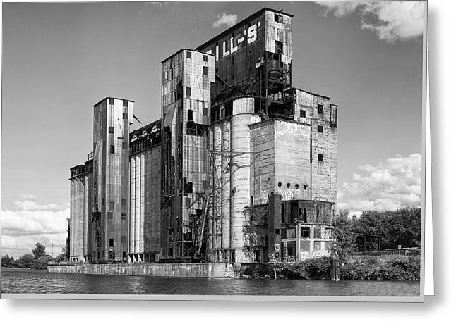Buffalo Greeting Cards - Silo City 2 Greeting Card by Peter Chilelli
