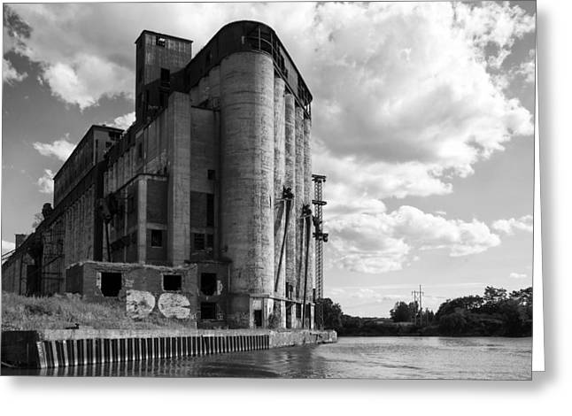 Buffalo Greeting Cards - Silo City 4 Greeting Card by Peter Chilelli