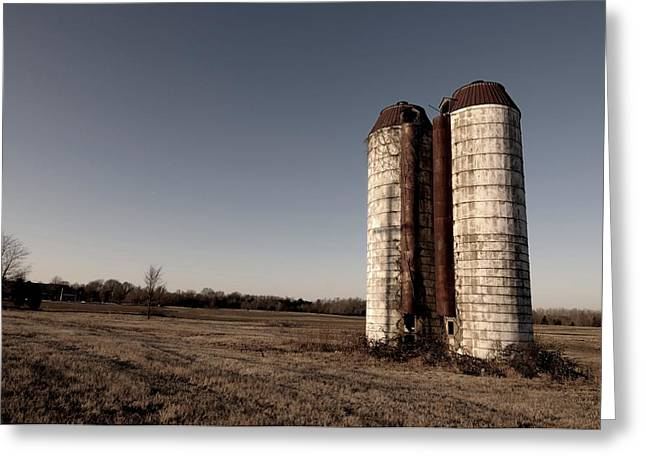 Silos 2 Greeting Card by Miguel Celis