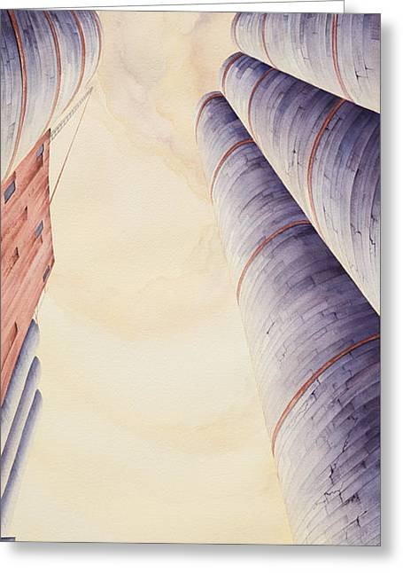Silo Greeting Cards - Silos IV Greeting Card by Scott Kirby