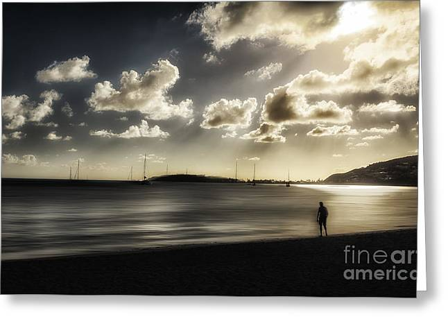 Sillouette Greeting Cards - Silouette of A Man Greeting Card by Arnie Goldstein