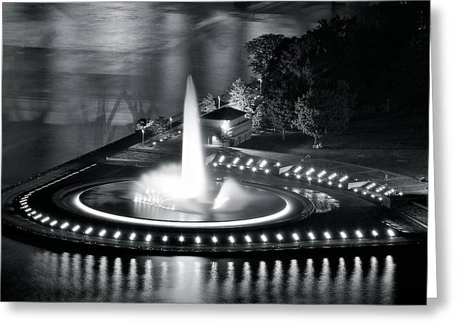 Incline Greeting Cards - Silver and Black Greeting Card by Frozen in Time Fine Art Photography