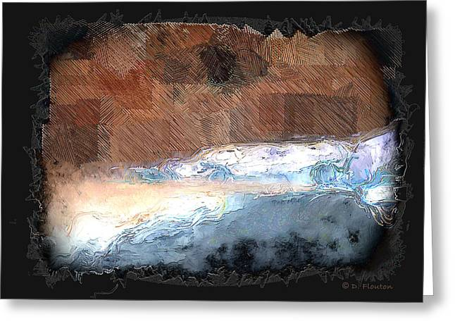 Ebsq Greeting Cards - Silver beach  Greeting Card by Dee Flouton