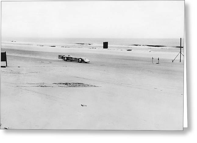 World Speed Record Greeting Cards - Silver Bullet At Daytona Greeting Card by Underwood Archives