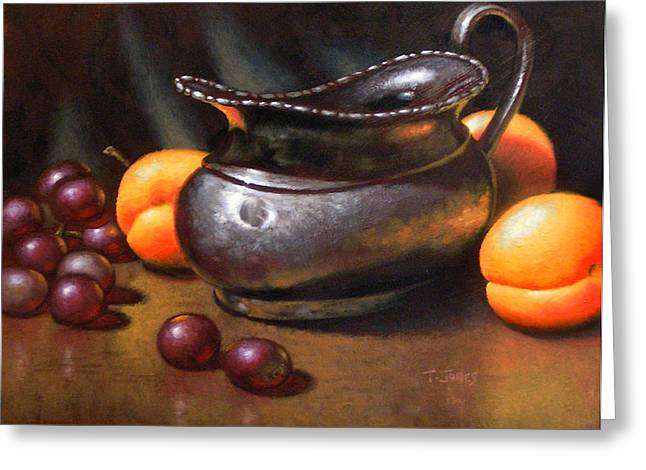 Apricot Greeting Cards - Silver Creamer Greeting Card by Timothy Jones