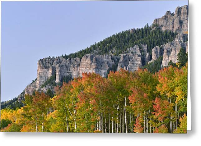 Mountain Road Greeting Cards - Silver Jack Fall Colors Greeting Card by Dean Hueber