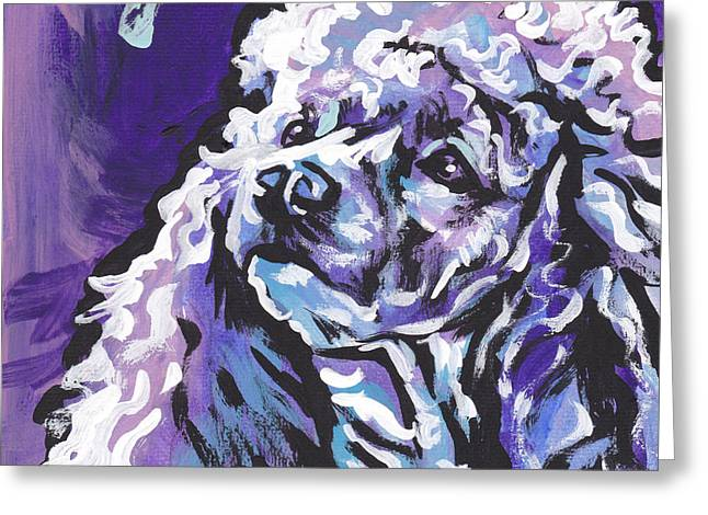 Poodle Greeting Cards - Silver Light Greeting Card by Lea