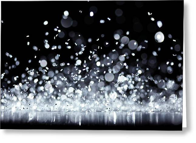Twinkle Greeting Cards - Silver Lights Greeting Card by Leigh Prather