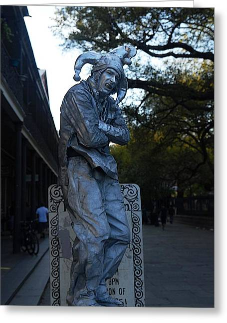 Eye4life Photography Greeting Cards - Silver Man In Quarter Greeting Card by Alicia Morales