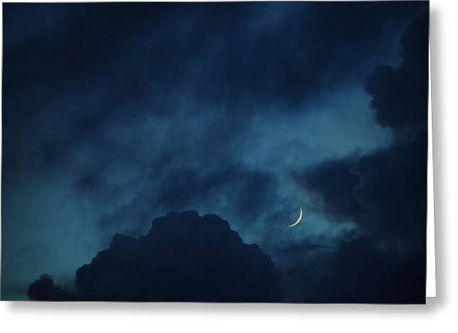 Gift Ideas For Him Greeting Cards - Silver Of Moonlight Greeting Card by Mingtaphotography