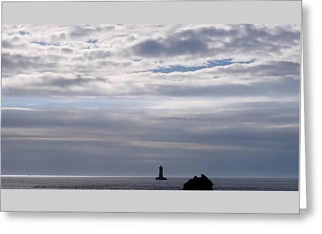 Silver On The Sea Greeting Card by Menega Sabidussi