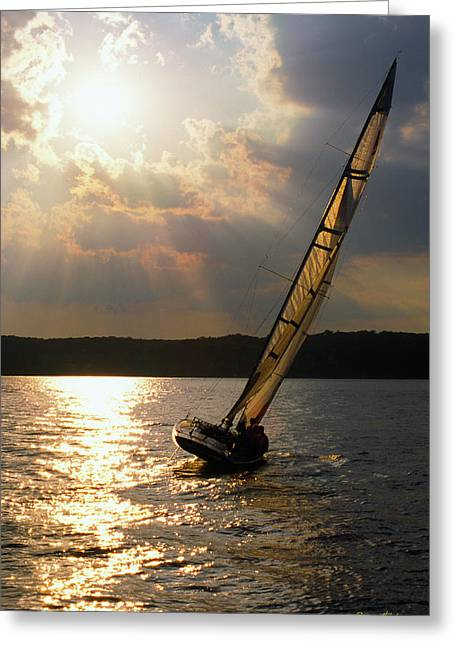 Silver Passage - Lake Geneva Wisconsin Greeting Card by Bruce Thompson