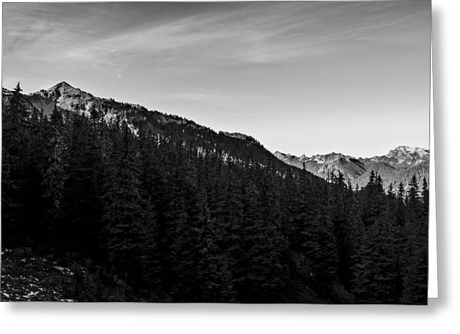 Silver Peak Black And White Greeting Card by Pelo Blanco Photo