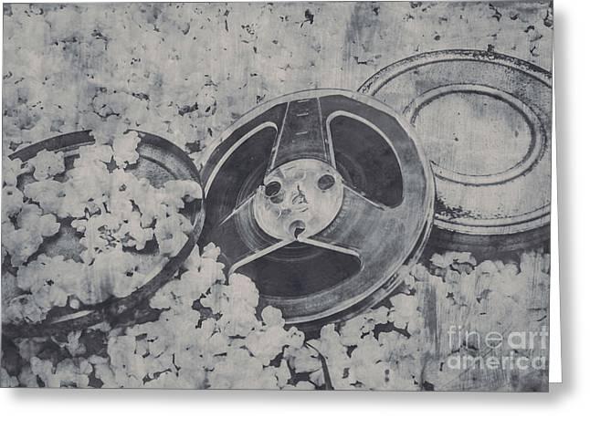 Silver Screen Film Noir Greeting Card by Jorgo Photography - Wall Art Gallery