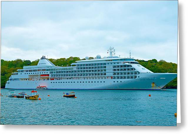 Boat Cruise Greeting Cards - Silver Whisper Greeting Card by Michael Stretton