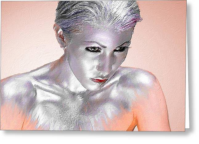 Decorate Greeting Cards - Silver Woman 1 Greeting Card by Tony Rubino