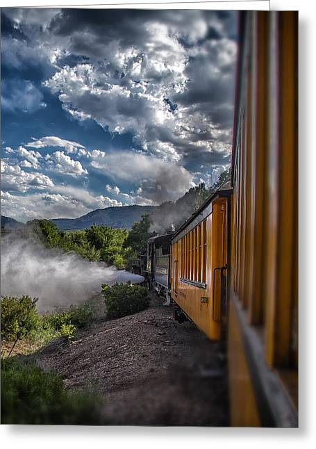 Mccoy Greeting Cards - Silverton Train Greeting Card by A Different Brian Photography