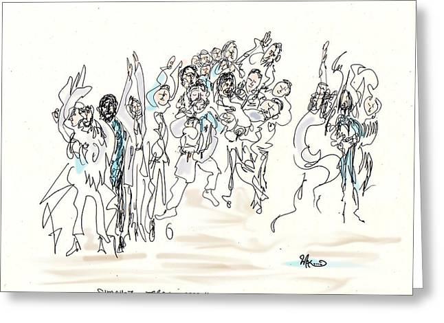 Simchat Torah Greeting Card by Michael A Klein