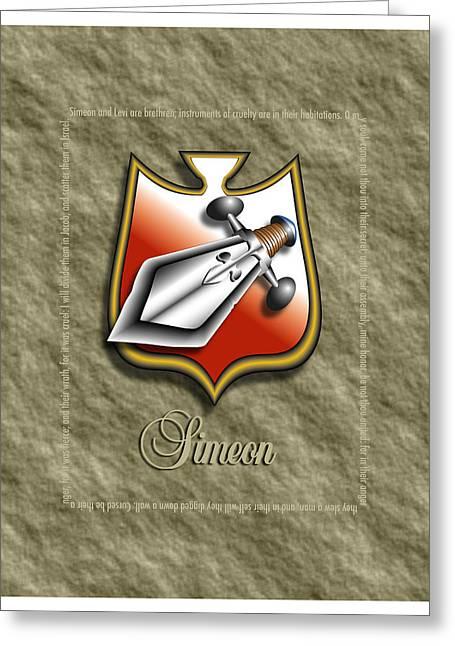 Simeon Greeting Cards - Simeon Shield Greeting Card by John D Benson