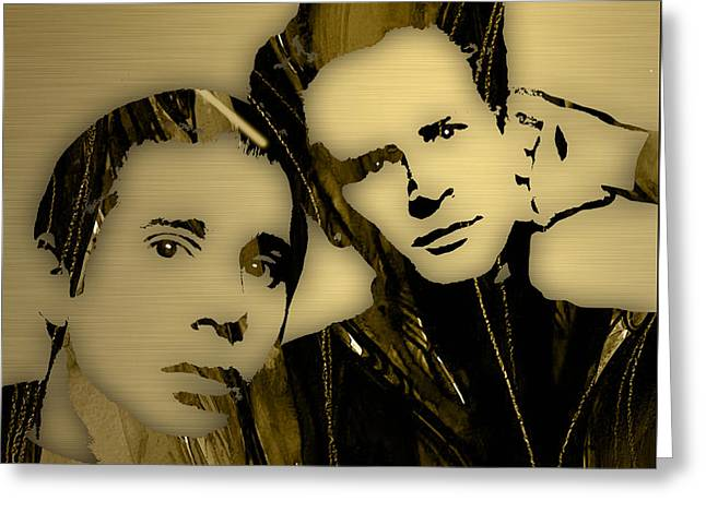Simon And Garfunkel Collection Greeting Card by Marvin Blaine