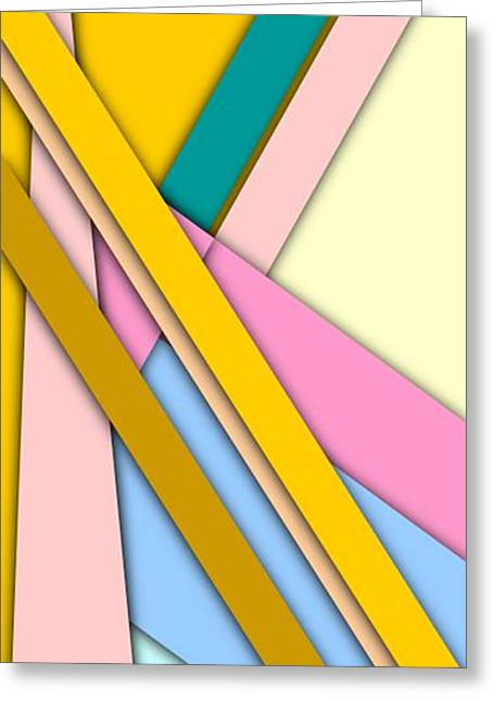 Simple Abstract 329 Greeting Card by Chris Butler