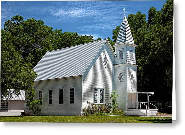 Christopher Holmes Greeting Cards - Simple Country Church Greeting Card by Christopher Holmes
