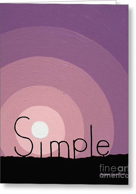 Simple Greeting Card by Jaison Cianelli