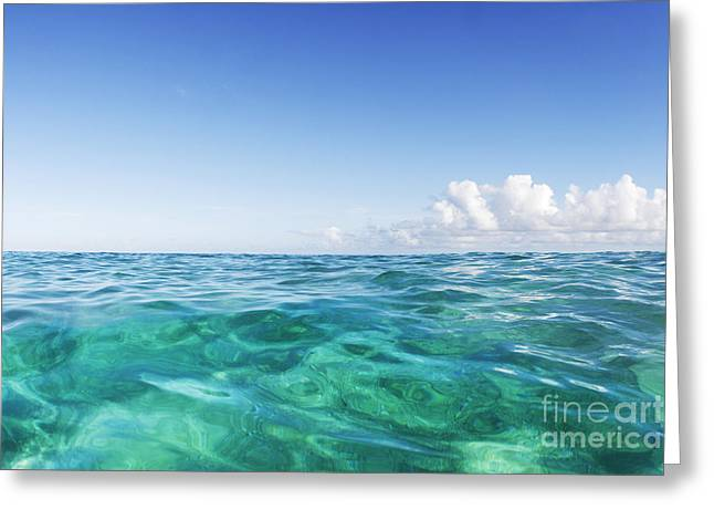 Vince Greeting Cards - Simple Ocean 2 Greeting Card by Vince Cavataio - Printscapes