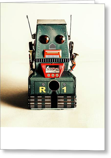 Simple Robot From 1960 Greeting Card by Jorgo Photography - Wall Art Gallery
