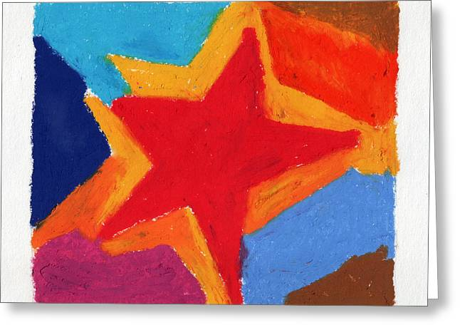 Star Pastels Greeting Cards - Simple Star Greeting Card by Stephen Anderson