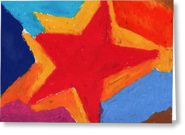 Star Pastels Greeting Cards - Simple Star-Straight Edge Greeting Card by Stephen Anderson