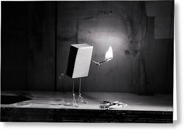 Simple Things - Light In The Dark Greeting Card by Nailia Schwarz