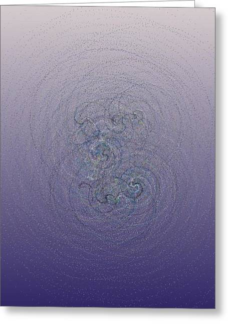 Generative Abstract Greeting Cards - Simple Twiddles 7-14-2015 #2 Greeting Card by Steven Harry Markowitz